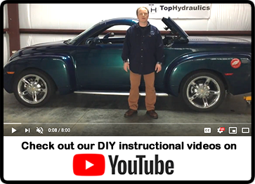 Rebuild Upgrade Service For Chevy Ssr Convertible Hydraulic Components Top Hydraulics Inc